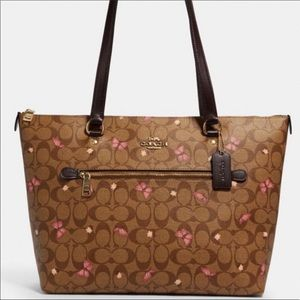 Coach Gallery Tote With Butterfly Print